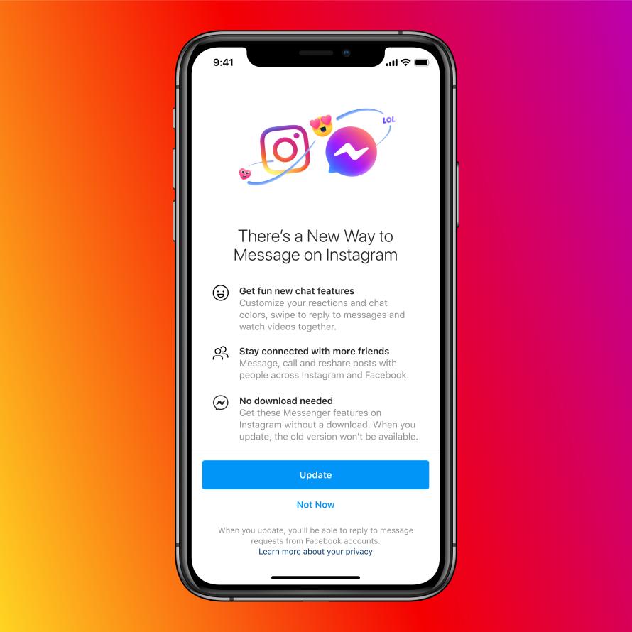 Messenger And Instagram Integrated together